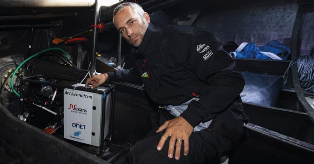Fabrice Amedeo, le navigateur engagé pour la préservation des océans a quitté Dunkerque dimanche soir pour un Tour de France le long de nos côtes