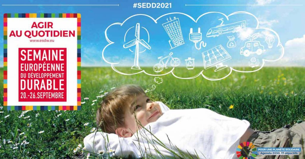 L'édition 2021 de la semaine européenne du développement durable est lancée !