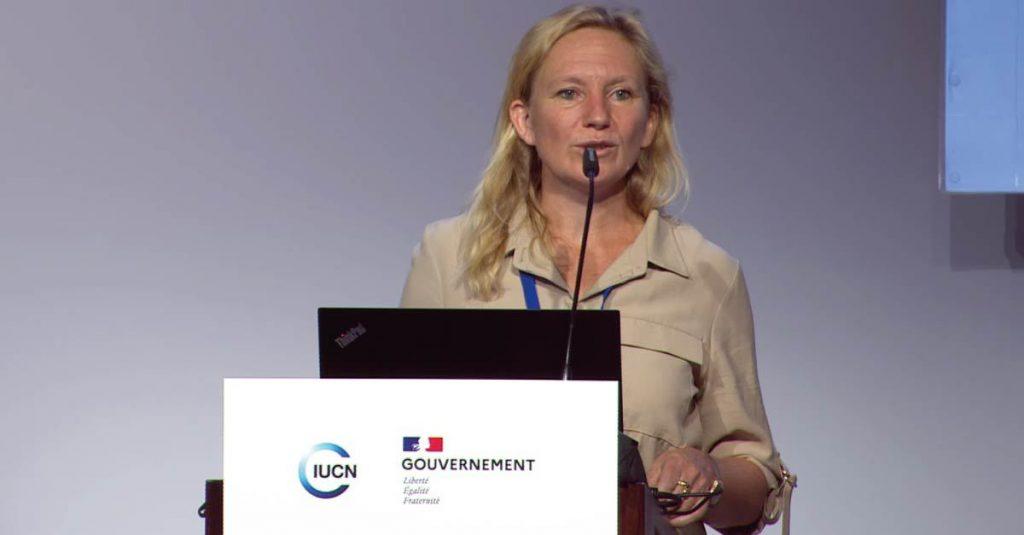 Muriel Duguay, responsable de projets RSE chez Onet est intervenue au Congrès mondial de la nature de l'Union internationale pour la conservation de la nature (UICN).